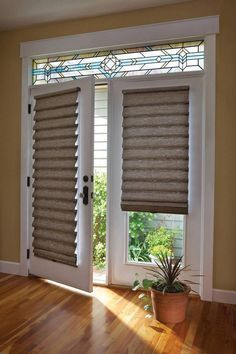 French Door Window Coverings - French doors are several of the most well-known doorways to use in a home nowadays mostly be French Door Window Coverings, French Door Windows, French Doors With Screens, French Doors Patio, Windows And Doors, Bay Windows, Sliding Door Window Treatments, Sliding Door Curtains, French Door Curtains
