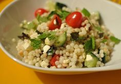 Tonight's Dinner: Israeli Couscous With Tomato, Feta, and Mint