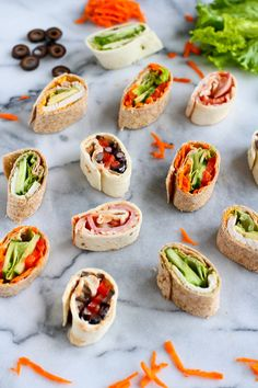 5 Pinwheel Sandwiches for Lunch Boxes