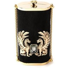 Roberto Cavalli Vertical Box Clutch Asos