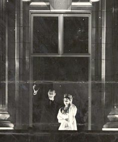 Later in the evening, Queen Elizabeth and Prince Philip made several appearances in the windows of Buckingham Palace much to the delight of the cheering crowds outside. This photo was taken from their third window appearance that night. Young Queen Elizabeth, Elizabeth Philip, Queen Mary, Princess Margaret, Princess Kate, Princess Of Wales, Princess Elizabeth, Rare Pictures, Rare Photos