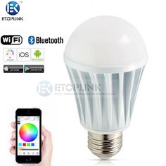 Find More Smart Illumination Information about E27 7W Bright RGB Wireless Bluetooth V4.0 Smart Timing LED Light Bulb for Smart Phone Control 110 240V 5630 Bluetooth Music ,High Quality e27 rgb bulb,China e27 led bulb dimmable Suppliers, Cheap bulb pin from Guangzhou Etoplink Co., Ltd on Aliexpress.com