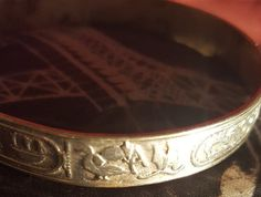 Silver Vintage Mexican Hieroglyphic Bangle by NeeNeeWorld on Etsy