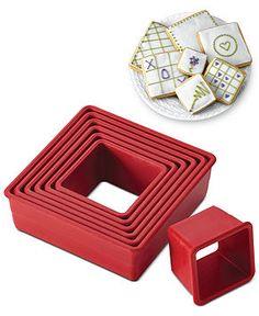 Cake Boss Square 9 Piece Cake Cutter Set - Bakeware - Kitchen - Macy's