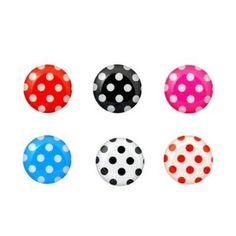 Polka Dots - 6 Piece iPhone Home Button Stickers for Apple iPhone, iPad, iPad Mini, iTouch from Picsity.com