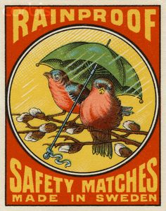 Rainproof Safety Matches Matchbox Label - 42-16647797 - Rights ...
