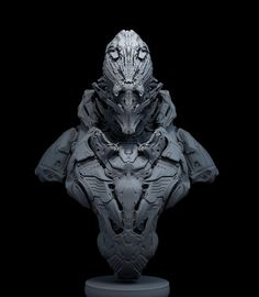 ArtStation - alien armor sketch, Pavel Terekhov