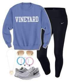 """""""First fockey game today"""" by keileeen ❤ liked on Polyvore featuring NIKE and Ray-Ban"""