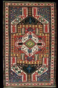 "Antique Karabagh ""Kasim Ushag"" rug, late 19th century, Elisabethpol Governorate (Елизаветпольская губерния), Zangezur Uyezd. 145 x 212 cm"