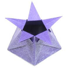 page Instructions to learn how to make a five-pointed cute origami star box. Origami 101, Cute Origami, Origami Star Box, Origami Paper Art, How To Make Origami, Origami Bird, Useful Origami, Origami Animals, Origami Stars