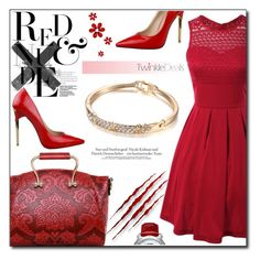 """Just Red"" by fashion-pol ❤ liked on Polyvore featuring vintage"