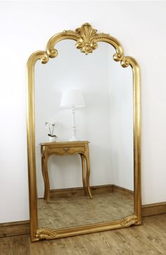Vintage floor mirror gold ornate full length vintage floor mirror x x large antique white floor standing . Pink Wall Mirrors, Vintage Mirrors, Living Room Mirrors, Classic Living Room, Classic House, Mirrored Bedroom Furniture, Bedroom Decor, Furniture Decor, Bedroom Inspo
