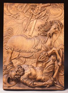 The Conversion of St. Paul (Getty Museum) by Christoph Daniel Schenck German, 1685 Limewood Saul To Paul, Paul The Apostle, San Pablo, Wood Carving Patterns, Getty Museum, Catholic Saints, Jesus Is Lord, Sacred Art, Museum Collection