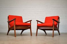 Pair of Mid Century Modern vintage Danish Lounge Chairs, I would love to have these in the living room.