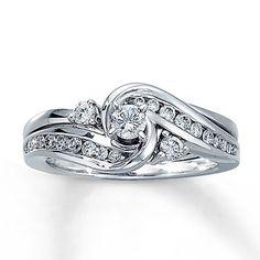 940177800 - Diamond Bridal Set 1/2 ct tw Round-Cut 14…