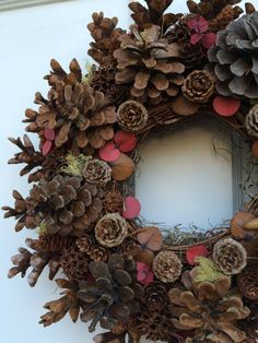 Fall Wreath for Front Door 15 All Natural Pine Cone