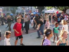National Night Out Dancing Cops