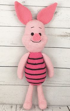 FREE!! 22 INCHES TALL!!! Ravelry: Piglet the Pig pattern by Holly's Hobbies