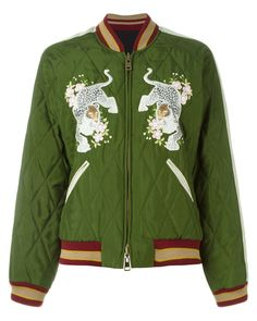 Chloé | Green Reversible Bomber Jacket | Lyst