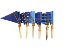 Blue Style Variety Cupcake Flags (25 pack)