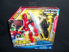 "Marvel Super Hero Mashers Deadpool 6"" Action Figure with Venom's Arm  #hasbro"