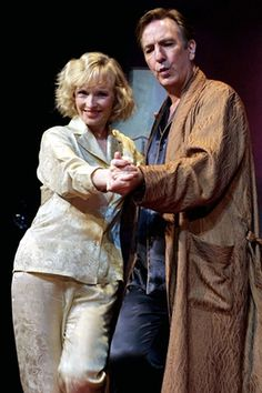 R.I.P. Alan Rickman and Lindsay Duncan in Private Lives.