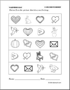 Worksheet Valentines Day