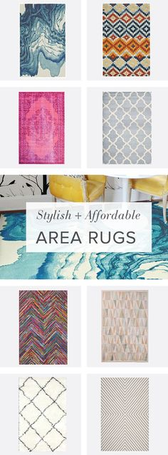 It's official: you're bored with your floor. Break your space up with a blast of color or bold graphic. Rugs are an easy way to update any room. My Decor Essentials. Home Living, My Living Room, Apartment Living, Deco Design, My New Room, First Home, Home Projects, Home Improvement, Sweet Home