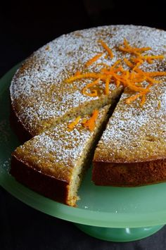 Flourless Orange Cake | There's no flour in the cake; just ground almonds (you can swap in any nut you'd like) and a touch of cornstarch. Fresh orange zest and a bit of vanilla extract make for a fragrant cake that's perfect at any time of day.