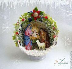 Новогодние интерьерные шары. (d-12 cм) - подарки и сувениры,подарки на новый год