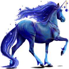 La belle bleue (POD), Licorne Frison Noir #23430461 - Equideow Gaia