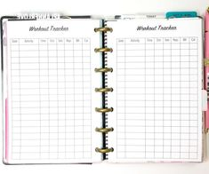 Workout Tracker Workout Log Exercise Tracker by PlanWithVi on Etsy