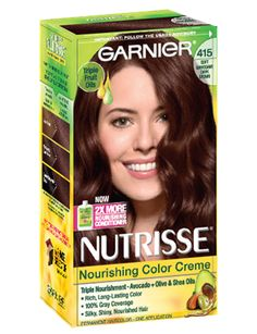 Garnier Nutrisse is the only permanent hair color creme that nourishes with grape seed and avocado oil. The nourishing color creme enriched with fruit oil concentrate, penetrates deep into hair fibers Mahogany Brown Hair Color, Dark Mahogany Brown, Red Brown Hair, Dark Brown, Red Hair, Color Your Hair, Hair Dye Colors, Cool Hair Color, Dark Auburn Hair