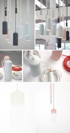 Porcelain lights by Studion WM- Wendy Legro (1984) and Maarten Collignon (1984) are Studio WM. – a design partnership based in Rotterdam, The Netherlands. They work in the field of furniture, lightning and interior design with self-commissioned projects and in collaboration with other companies.