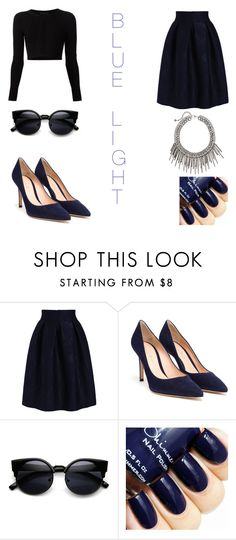 """""""blue light"""" by lgosudareva on Polyvore featuring Cushnie Et Ochs, Gianvito Rossi, women's clothing, women's fashion, women, female, woman, misses and juniors"""