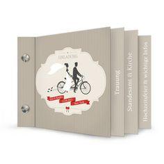 Hochzeitseinladung - Booklet - Sina und Bradley - Carinokarten.de