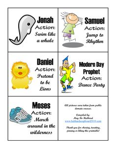 """I've been pondering on how I can teach all nine verses of """"Follow the Prophet"""" song from the LDS Children Song Book which is the theme song for March 2015 in the current 2015 Sharing Time Manual: I..."""