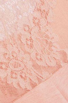 I.D. Sarrieri - Café Crème Lace-paneled Modal-blend Jersey Tank - Pastel pink - x small