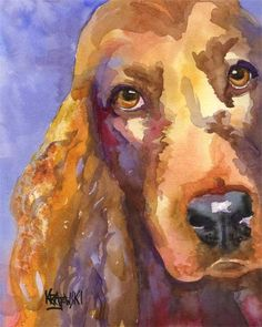 Irish Setter Art Print of Original Watercolor by dogartstudio