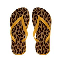 Leopard flip-flops by Valxart.com Flip Flops See more Leopard products at http://www.pinterest.com/valxart/leopard-fashion-fun-by-valxart/