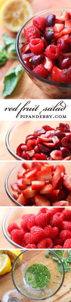 Red Fruit Salad - this salad is so tasty AND so pretty!