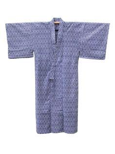 ☆ New Arrival ☆ 'Tic Tac Toe' #Mens #vintage #cotton #yukata #Japanese #kimono with geometric pattern from #FujiKimono http://www.fujikimono.co.uk/fabric-japanese/tic-tac-toe.html