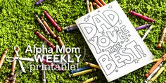 Father's Day Card Printable Coloring Sheet | Alphamom