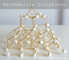 Marshmallow Sculptures - easy project for kids of all ages