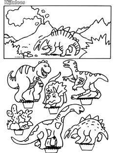 Dinosaurus - Kijkdoos - Knutselpagina.nl - knutselen, knutselen en nog eens knutselen.