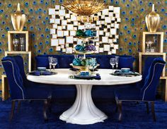 Sapphire Sophistication. Join us on Houzz for more bold inspiration!