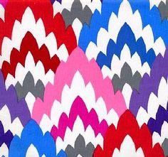 1/2 Yard Quilt Fabric Flamestitch Modern Multi White Dear Stella  | auntiechrisquiltfabric - Craft Supplies on ArtFire