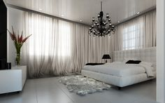 3D Bedroom Models Guest Room, Curtains, Living Rooms