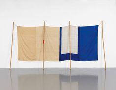 Robert Rauschenberg  (interesting way to hang a thing)