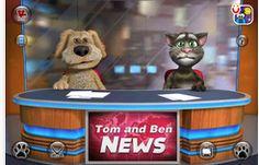 Talking Tom and Ben News is a free digital storytelling app. Funny Cat Videos, Funny Jokes, Fun Funny, Talking Tom 2, Gummy Bear Song, Storytelling App, Narrativa Digital, Bear Songs, Movie Talk